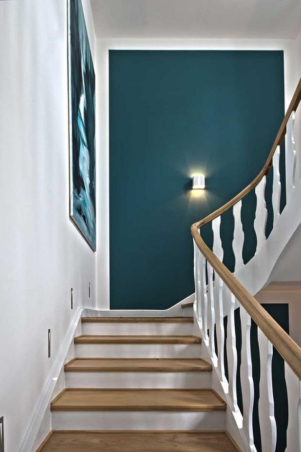 Wandgestaltung Treppenhaus Einfamilienhaus Herrlich On Andere Und Kleines Wohndesign Wande Gestalten 7