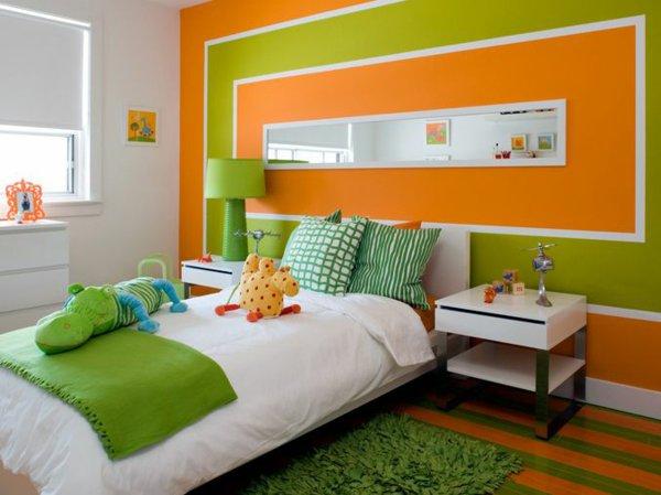 Zimmer Streichen Grün Herrlich On Andere Innerhalb Farbideen Orange Wände Wandgestaltung Kinderraum 1